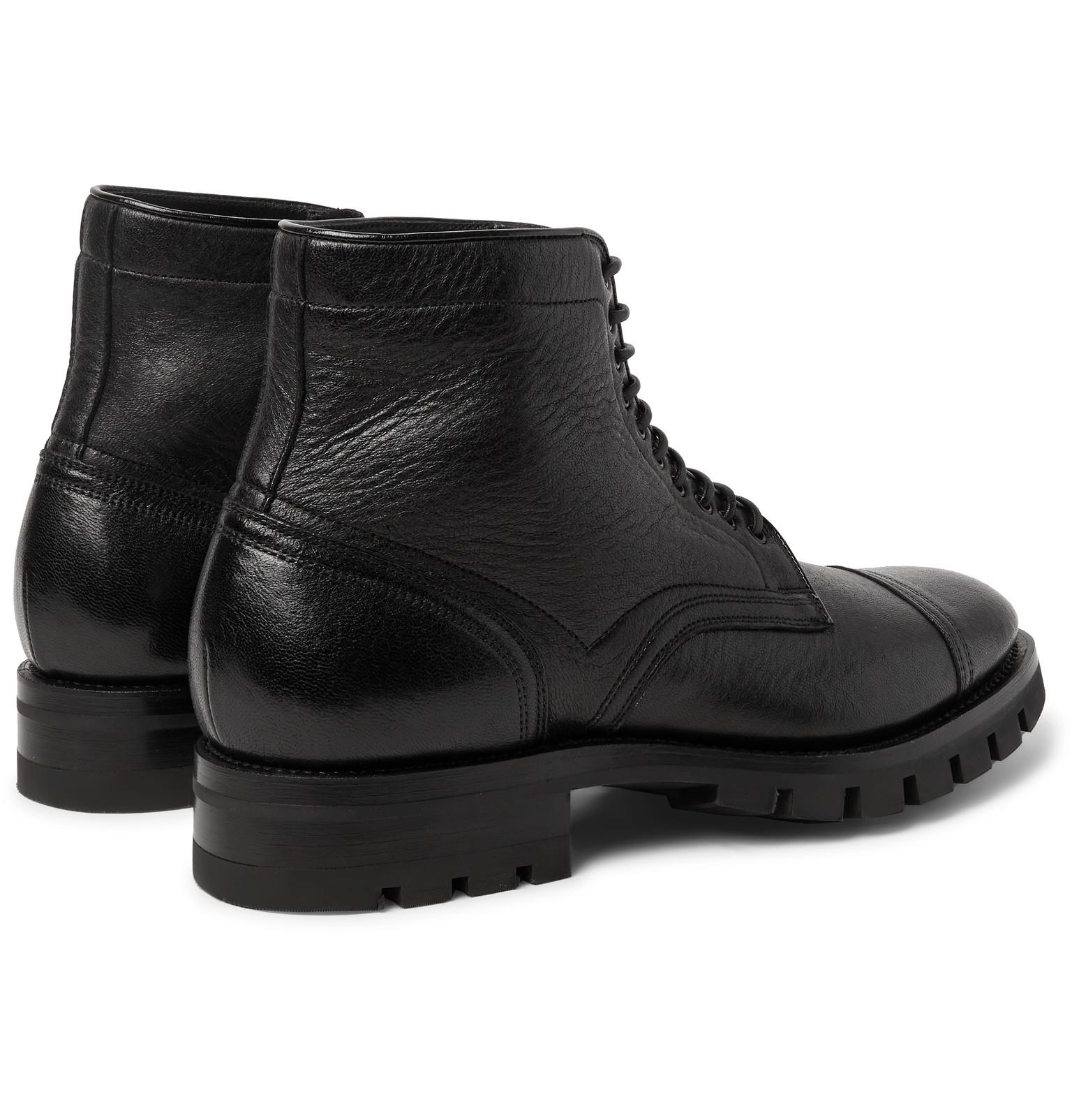 Boots Leather Santoni Grain Grain Full Santoni Full 1RXWqYgfpR