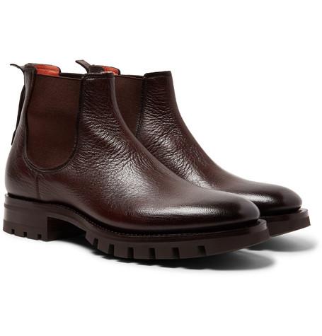 48618d3e45c2 Santoni - Full-Grain Leather Chelsea Boots