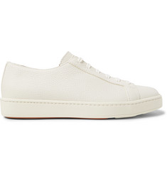 Santoni Full-Grain Leather Sneakers