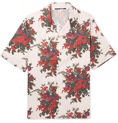McQ Alexander McQueen - Billy Camp-Collar Floral-Print Cotton-Poplin Shirt