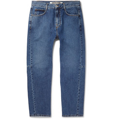 McQ Alexander McQueen Tapered Panelled Denim Jeans