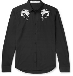 McQ Alexander McQueen - Embroidered Cotton-Poplin Shirt
