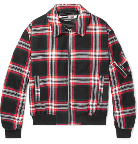 Quilted Checked Brushed Cotton Blouson Jacket by Mc Q Alexander Mc Queen