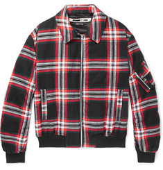 McQ Alexander McQueen Quilted Checked Brushed-Cotton Blouson Jacket