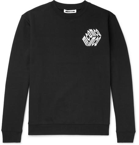 McQ Alexander McQueen – Logo-print Loopback Cotton-jersey Sweatshirt – Black