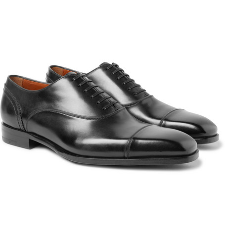 Milano Cap-toe Leather Oxford Shoes Ermenegildo Zegna idPaAM8