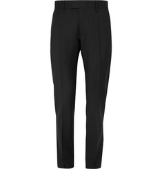 SALLE PRIVÉE Black Rocco Slim-Fit Wool and Mohair-Blend Suit Trousers