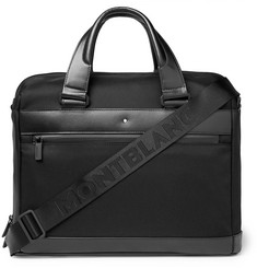 Montblanc - Nightflight Leather-Trimmed Nylon Briefcase