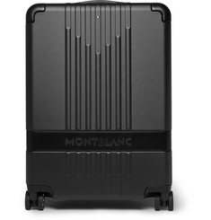 My 4810 Leather-trimmed Polycarbonate Carry-on Suitcase - Black