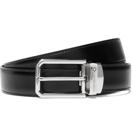 3cm Black And Brown Reversible Leather Belt by Montblanc