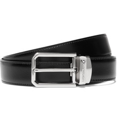 Montblanc - 3cm Black and Brown Reversible Leather Belt