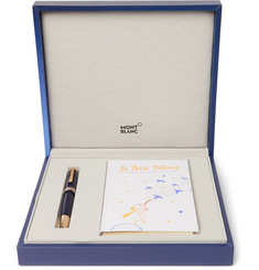 Montblanc - Meisterstück Le Petit Prince Engraved Gold-Tone and Resin Fountain Pen and Book Set