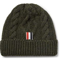 Thom Browne Cable-Knit Wool Beanie