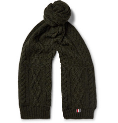 Thom Browne Aran-Knit Wool Scarf