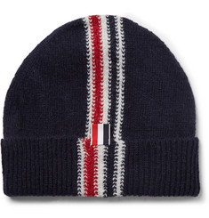 Thom Browne Striped Intarsia Wool and Mohair-Blend Beanie