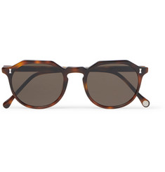 Cubitts Cartwright Round-Frame Tortoiseshell Acetate Sunglasses