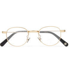 Cubitts Bingfield Round-Frame Gold-Tone Optical Glasses
