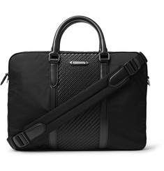 Ermenegildo Zegna Nylon and Pelle Tessuta Leather Briefcase