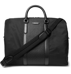 Ermenegildo Zegna Pelle Tessuta Leather and Shell Holdall