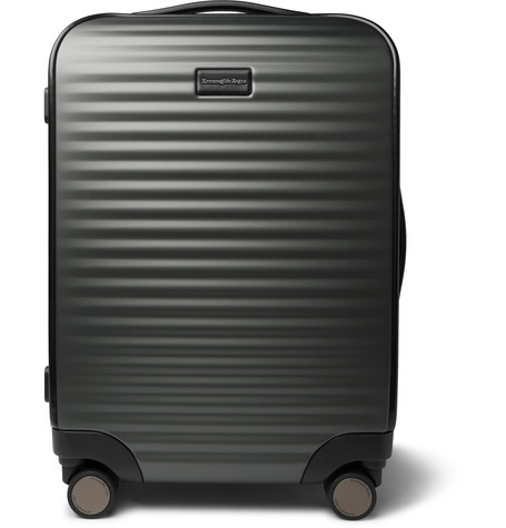 Leather Trimmed Polycarbonate Carry On Suitcase by Ermenegildo Zegna