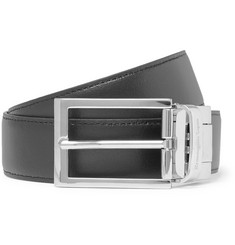 Ermenegildo Zegna 3cm Black and Tan Reversible Leather Belt