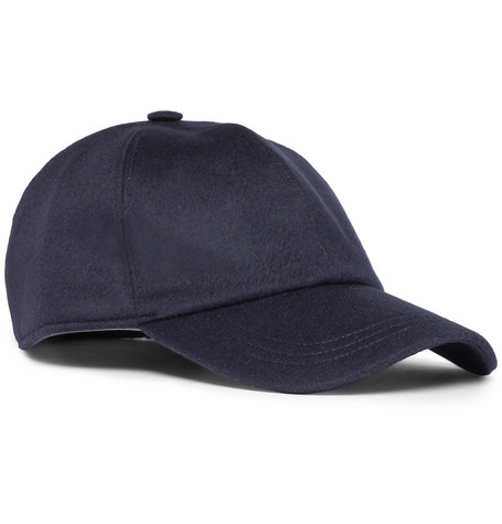 Ermenegildo Zegna – Embroidered Cashmere Baseball Cap – Navy