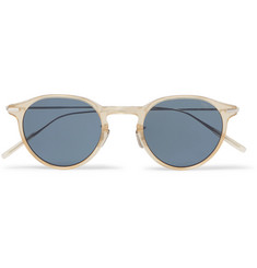 Eyevan 7285 749 Round-Frame Acetate and Titanium Sunglasses