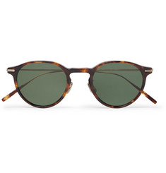 Eyevan 7285 Round-Frame Tortoiseshell Acetate and Gold-Tone Sunglasses