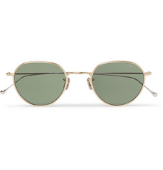 Eyevan 7285 765 Round-Frame Gold and Silver-Tone Titanium Sunglasses