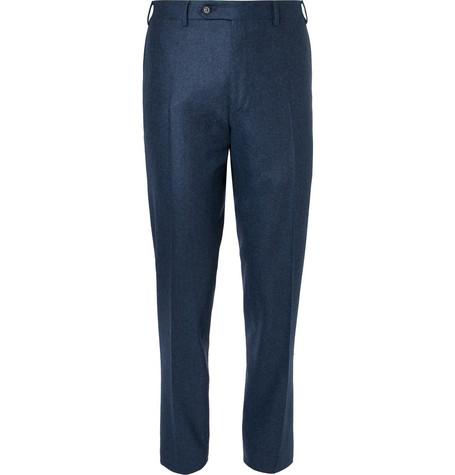CANALI Dark-blue Slim-fit Wool Suit Trousers - Storm blue 67GOwjqTba