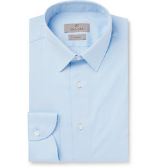 Canali - Light-Blue Slim-Fit Cotton-Poplin Shirt