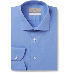 Canali - Blue End-on-End Cotton Shirt
