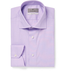 Canali - Purple End-on-End Cotton Shirt