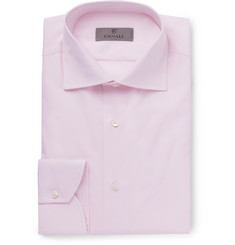 Canali - Light-Pink Cutaway-Collar Cotton Shirt