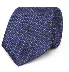 8cm Striped Mélange Wool And Silk-blend Tie Canali Pex3lrS