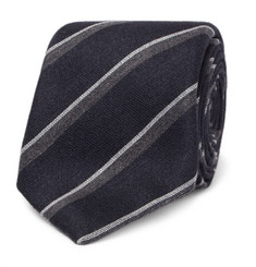 Canali 8cm Striped Silk and Cashmere-Blend Tie