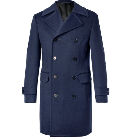 Double Breasted Wool And Cashmere Blend Coat by Canali