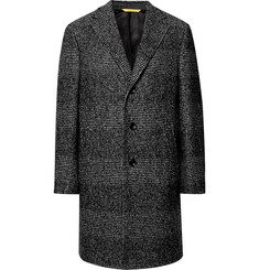 Canali - Kei Prince of Wales Checked Wool-Blend Overcoat