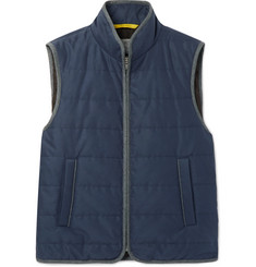 Canali Slim-Fit Piped Water-Resistant Quilted Gabardine Gilet