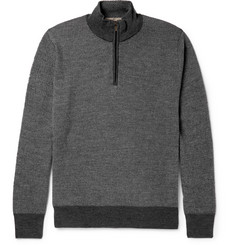 Canali - Mélange Wool Half-Zip Sweater