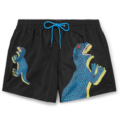 Paul Smith Slim-Fit Mid-Length Printed Shell Swim Shorts