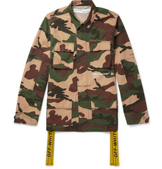 Off-White Oversized Canvas-Trimmed Camouflage-Print Cotton Field Jacket