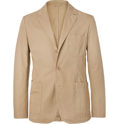 Aspesi Sand Unstructured Cotton-Twill Blazer