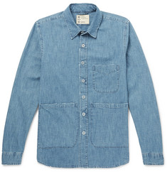Aspesi Distressed Denim Shirt