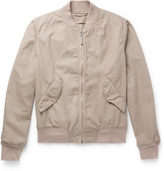Aspesi Slim-Fit Cotton-Twill Bomber Jacket