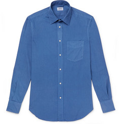 Aspesi Slim-Fit Garment-Dyed Cotton-Poplin Shirt