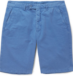 Aspesi Slim-Fit Washed Cotton-Twill Shorts