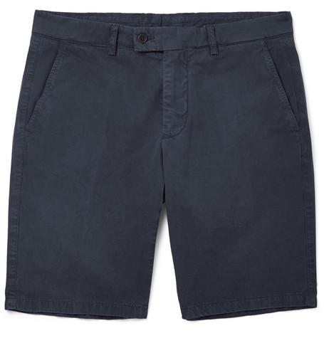 Slim Lavé Short Coton Sergé Aspesi 6U2B6arb