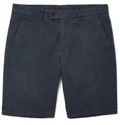 Aspesi - Slim-Fit Washed Cotton-Twill Shorts
