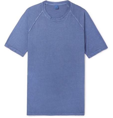 Aspesi Slim-fit Cotton-jersey T-shirt - Blue qwMbOZtkmB